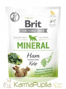 Brit Care Dog Functional Snack Mineral Ham Puppy 150g