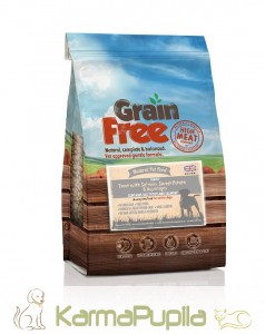 Natural Pet Food Grain Free Light/Senior Łosoś z pstrągiem, batatami i szparagami 12kg+2kg PROMOCJA