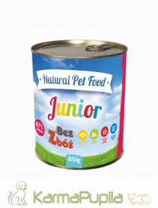 Natural Pet Food  Grain Free Junior Indyk 87% mięsa 850g