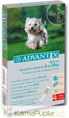 Bayer Advantix Spot On 4-10kg